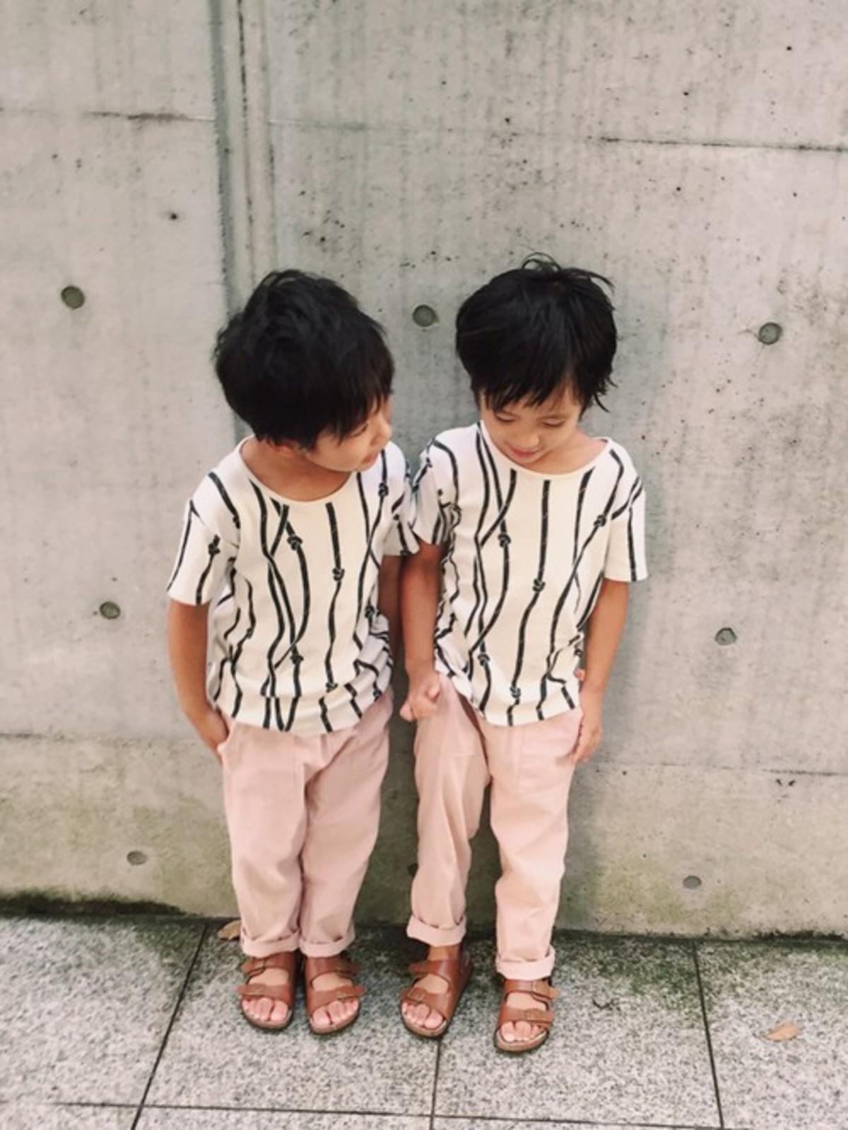 双子の男の子コーデに胸キュン。インスタグラムで人気急上昇中のayakoさんのコーデ術