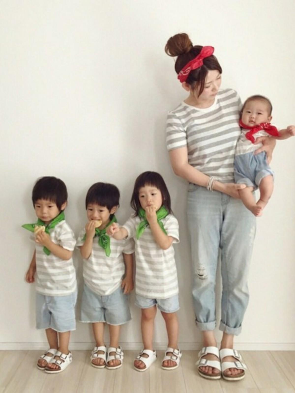 家族写真をおしゃれに撮るなら、簡単おそろいコー …
