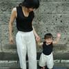 第二子妊娠中!Hanaさんの親子リンクコーデが可愛いんです!