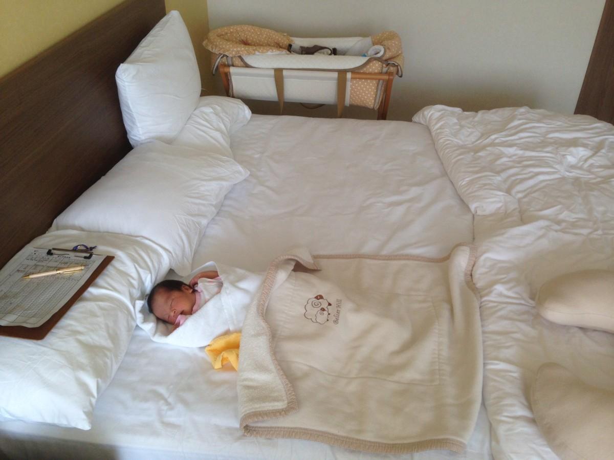 新生児 ベッド ※筆者撮影