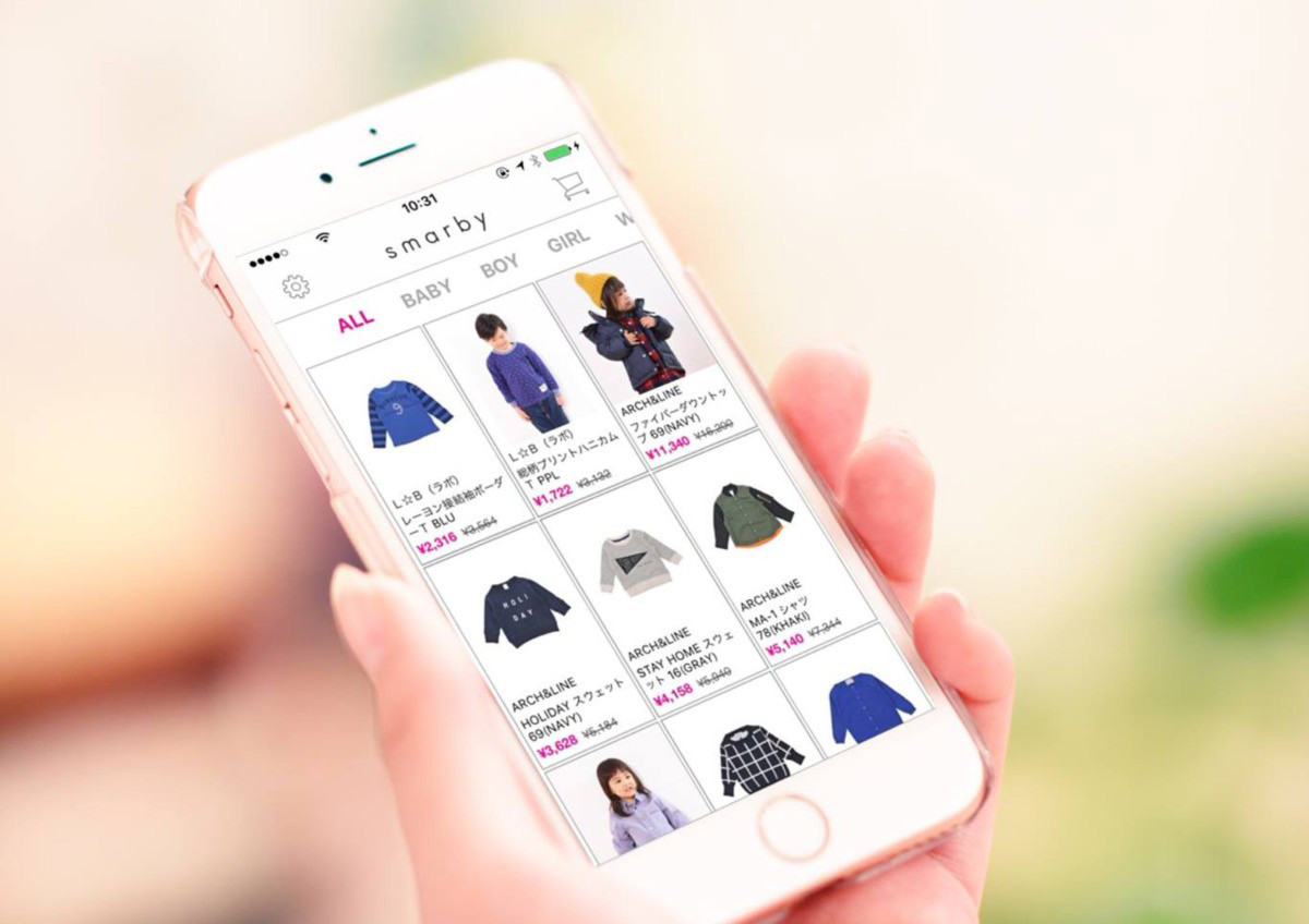 smarby(スマービー)はママのためのファッションセールアプリ