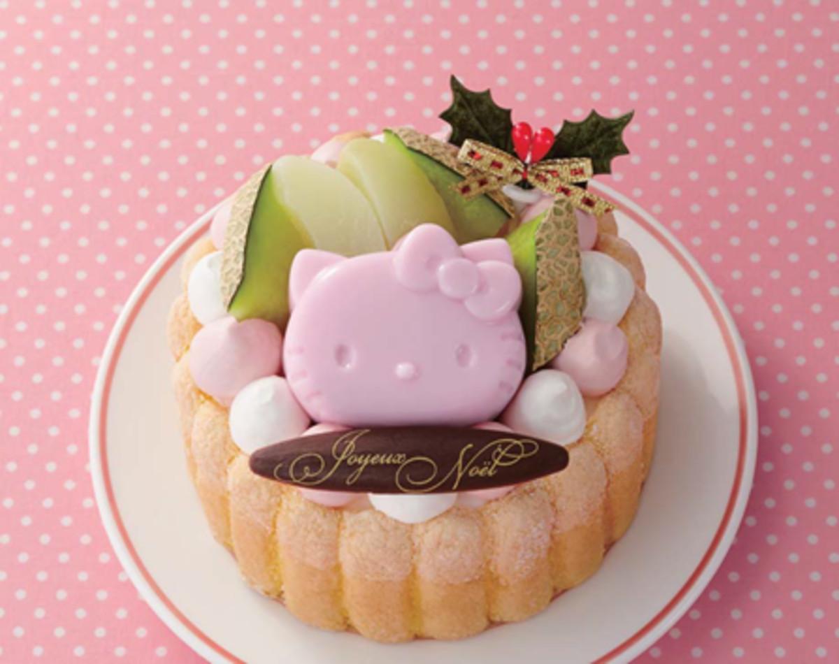 ハローキティのクリスマスケーキ4号