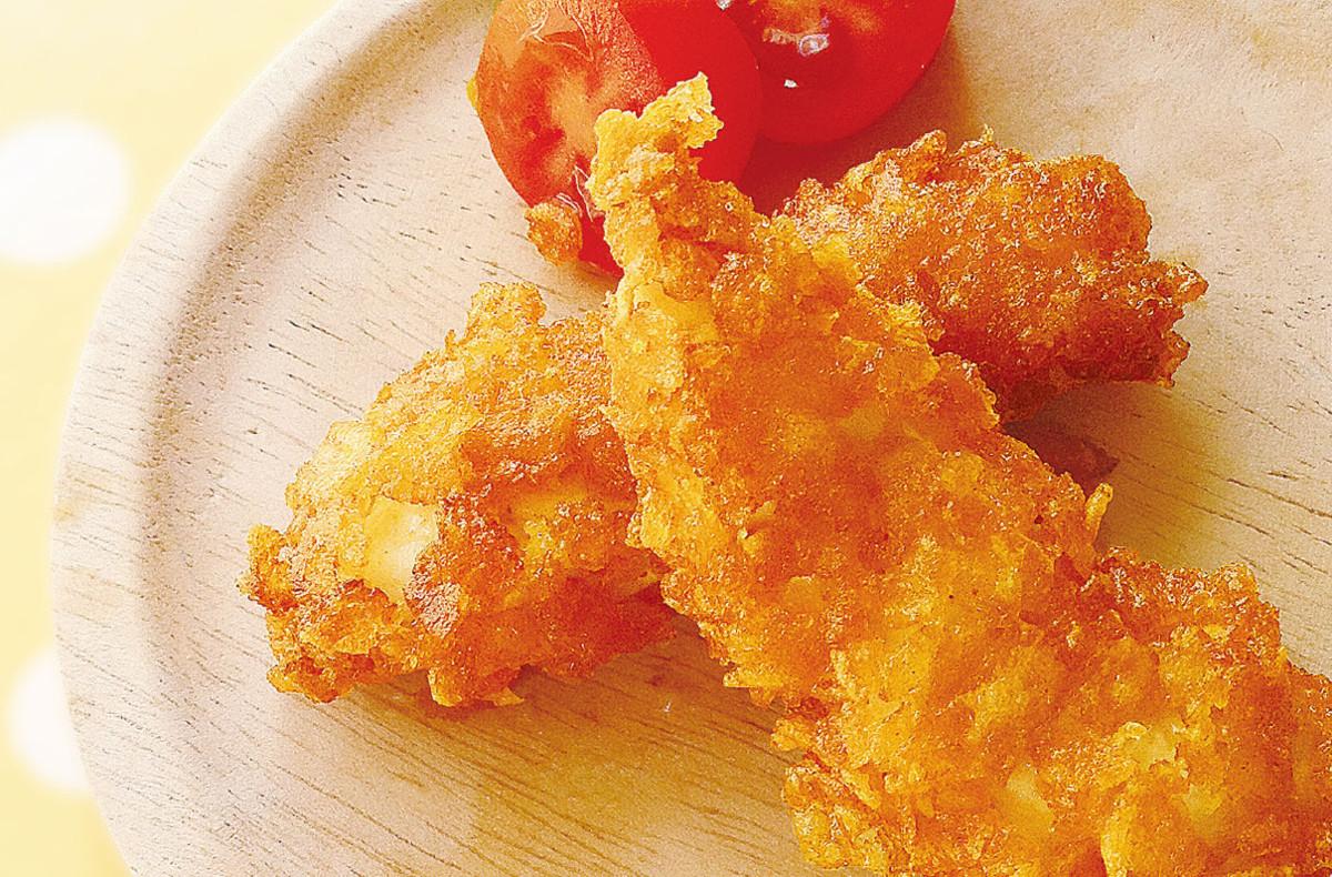 鶏ささみのコーンフレーク揚げ