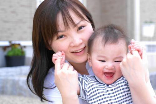 ママも子供も笑顔
