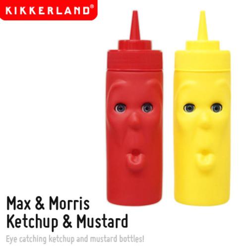 【KIKKERLAND/キッカーランド】Max&Morris Ketchup &Mustard/マックス&モリス ケチャップ&マスタード 調味料容器【あす楽_土曜営業】腕時計とおもしろ雑貨のシンシア プレゼント