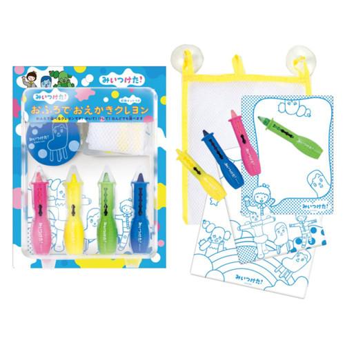 NHK みいつけた! おふろでおえかきクレヨン お風呂のおもちゃ ぬりえ サボさん・コッシー・スイちゃん おもちゃ・知育玩具