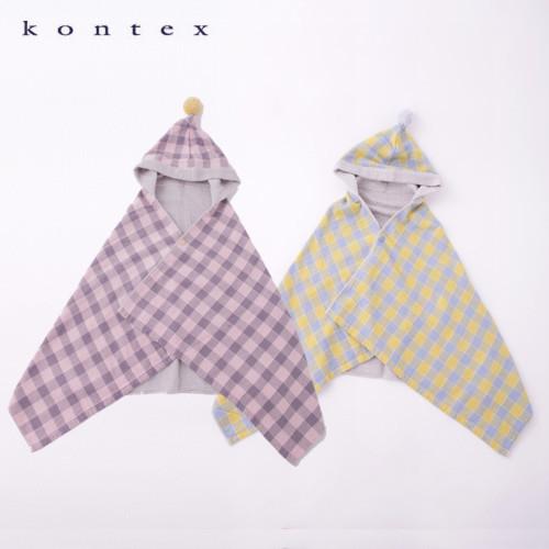 kontex(コンテックス)アンジェリーヌフード付きバスタオル