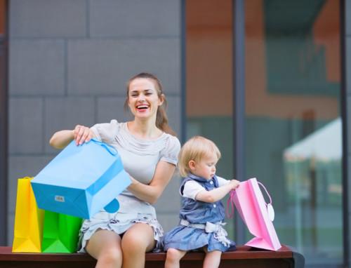 ママ 赤ちゃん 買い物