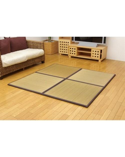 純国産 ユニット畳 ふっくらピコ ブラウン 82×82×2.2cm 6枚1セット