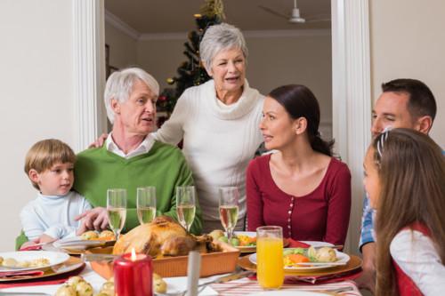 クリスマスの家族団欒