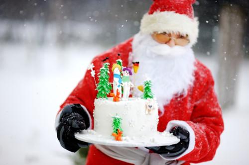 サンタクロース ケーキ