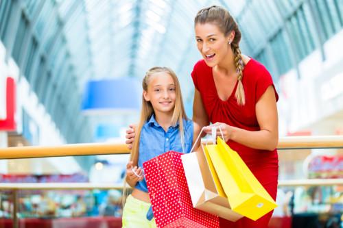 子供とショッピングモール