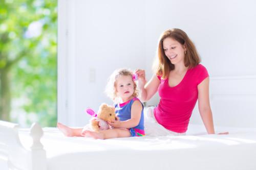赤ちゃん ママ 髪