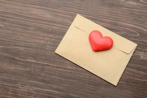 ハート 手紙