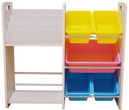 MAMENCHI 玩具箱&木製ラック