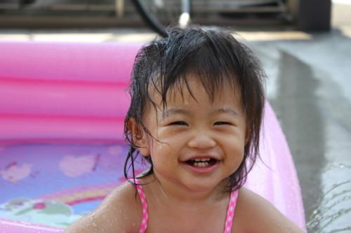 水浴び 子供