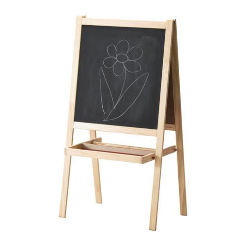イケア IKEA MALA イーゼル ソフトウッド ホワイト