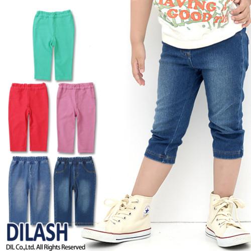 5色デニムニット7分丈レギンス DILASH(ディラッシュ)