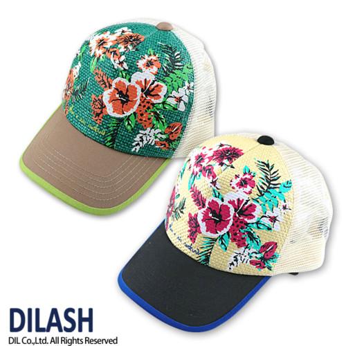 ハイビスカス柄メッシュキャップ DILASH(ディラッシュ)