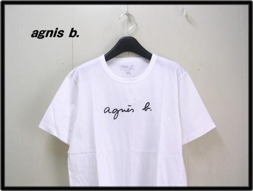 白 White 【agnes b. HOMME アニエスベー オム ロゴ Tシャツ】