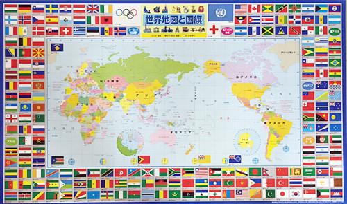 デスクマット世界地図・国旗