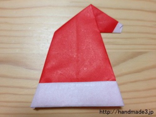 折り紙の:サンタクロースの折り紙の折り方-mamari.jp