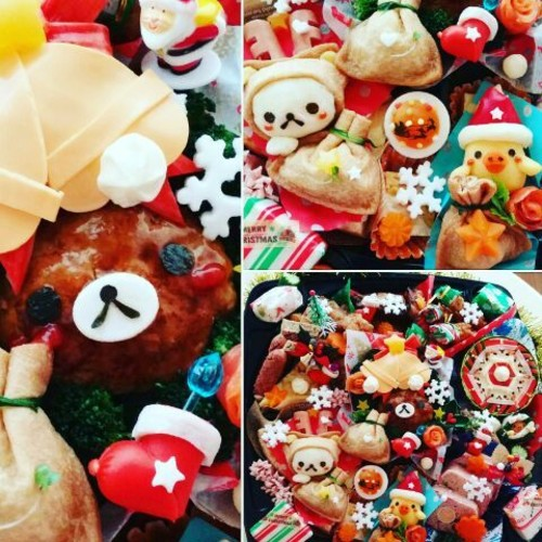 リラックマ・コリラックマ・キイロイトリのクリスマスオードブル、クリスマスキャラ弁
