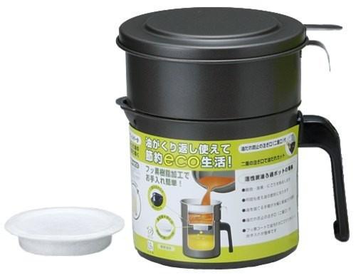 高木金属 フッ素コート 活性炭油ろ過ポット 0.9L