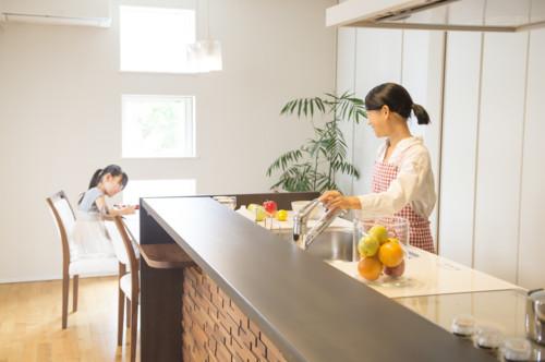 キッチン 家族