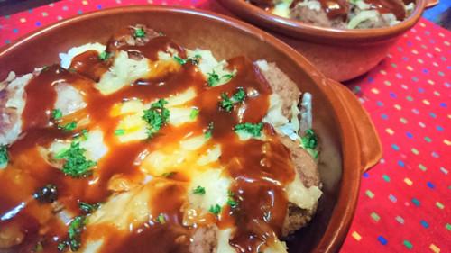 トロ玉チーズのハンバーグ丼
