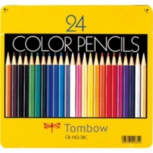 トンボ鉛筆 缶入色鉛筆 24色 NQ CB-NQ24C 目安在庫=○[メール便対象商品]