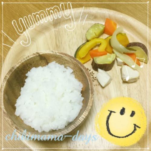 彩り野菜と鶏肉のグリル