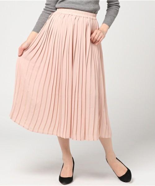 ミディ丈プリーツスカート