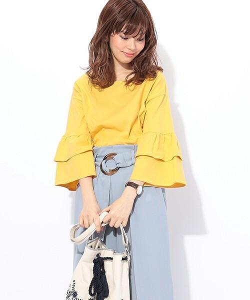 ダブルフリルTシャツ
