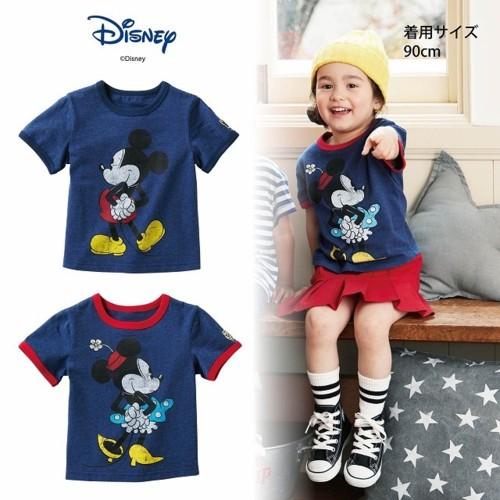 <Disney>ミッキー&ミニー・リンガーTシャツ