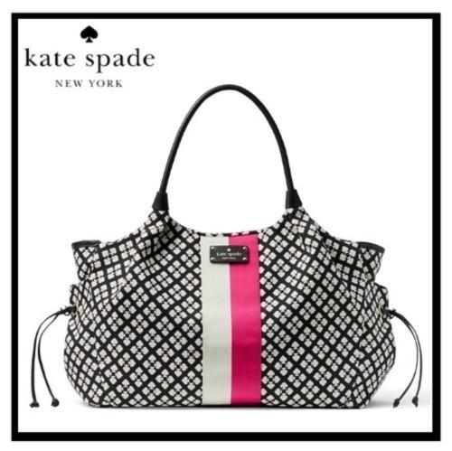 kate spade ケイトスペード CLASSIC SPADE STEVIE BABY BAG (クラシック スペード スティービー ベビー バッグ) ベビーバッグ マザーズバッグ ママバッグ BLACK/CREAM(017) (ブラック/クリーム) WKRU1523