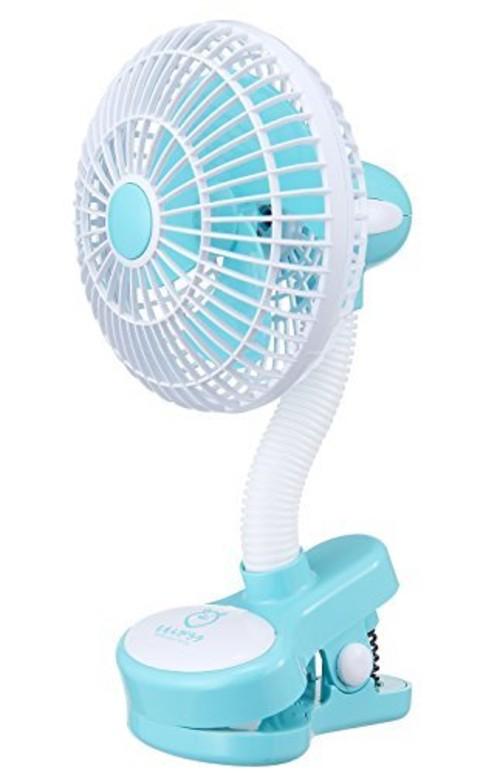 ベビーカークリップ扇風機 ライトブルー