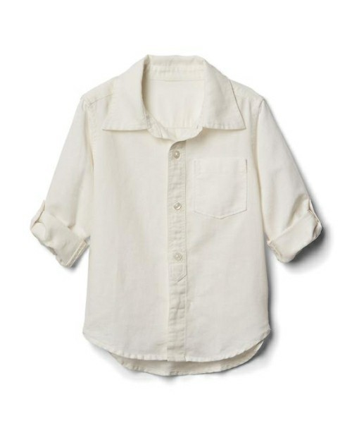 Gap リネンブレンド コンバーチブルシャツ