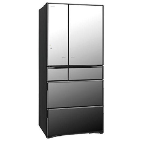 日立 670L 6ドアノンフロン冷蔵庫 真空チルド クリスタルミラー R-X6700F-X