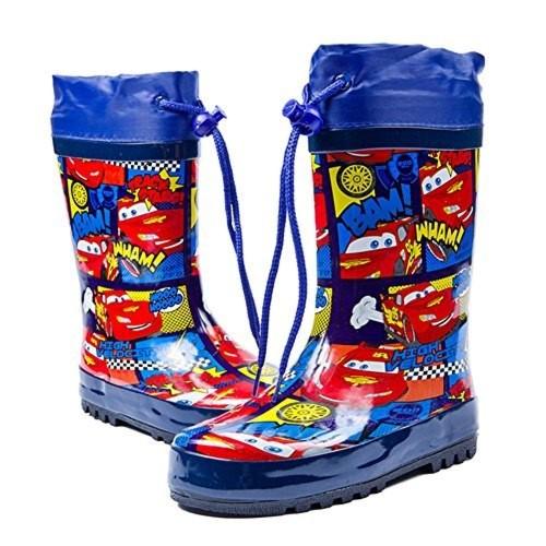 ikeem レインブーツ キッズ 子供 男の子 ゴム製 軽量 快適 耐滑長靴 梅雨対策 防水 ブルー 16.5‐23㎝
