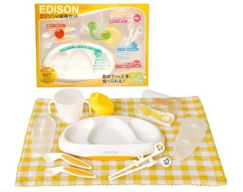 KJC エジソン 食器セット エジソンの食育セット (1歳頃から対象) エジソンのギフトセット