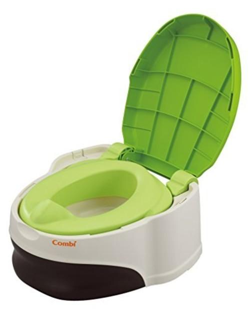 コンビ Combi トイレトレーニング ベビーレーベル 洋式おまるでステップ レーベルシャトルーズ (GR) (おまる:1歳頃~/補助便座+ステップ:1歳6ヶ月頃~対象)