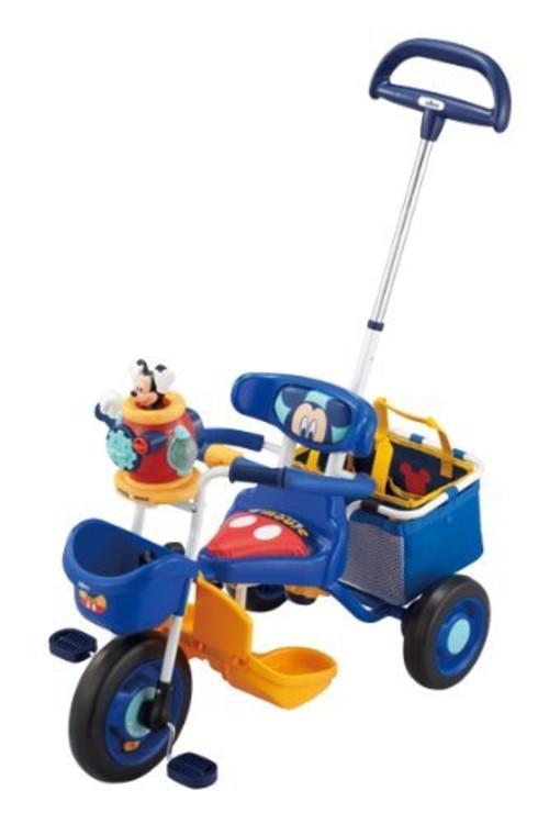 ポップンカーゴ三輪車 ミッキーマウス ブルー