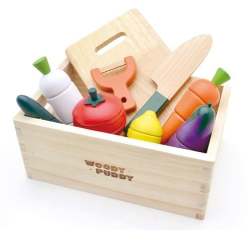 木のおもちゃ サラダセット 木箱入りおままごとセット