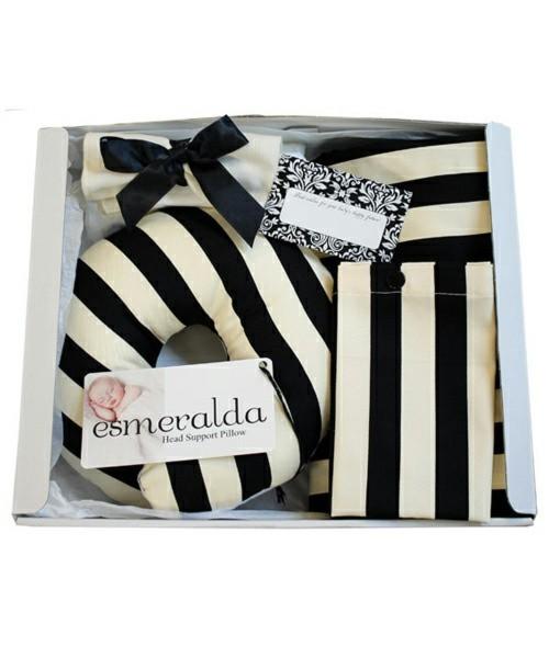 授乳ケープ&ベビー用枕ギフトセット(お口拭きガーゼ、授乳ケープ収納ポーチ、メッセージカード付き)