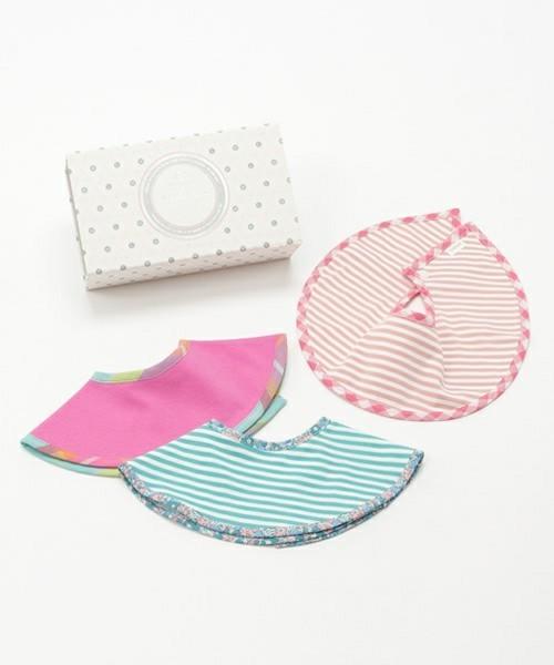 【MARLMARL/マールマール】macaron & marche 3bibs gift set/ギフトボックス入りスタイ3枚セット(メッセージカード付き)