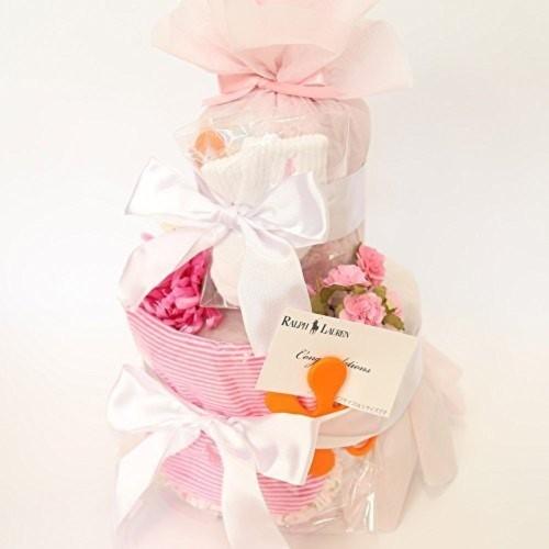 POLO RALPH LAUREN | おむつケーキ 2段 女の子 出産祝い