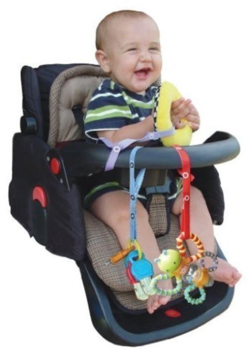 Baby Buddy おもちゃストラップ2色各1本組 ロイヤルブルー&ホワイト