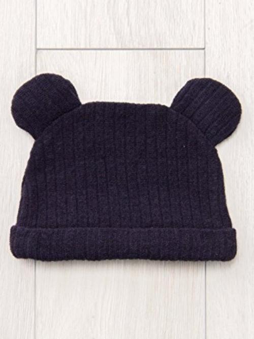 ベビー ニットソー 耳付き帽子
