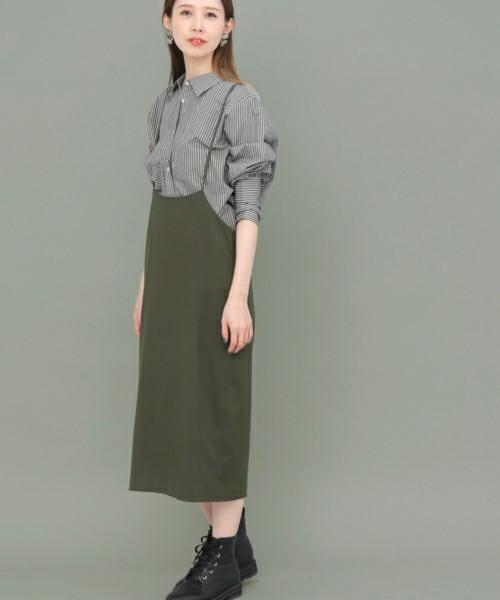 【WEB限定】 バッククロスハイウエストスカート
